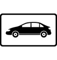 icon with black car silhouette vector image vector image