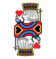 Jack of hearts no card vector image vector image