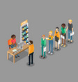 job search concept flat isometric vector image