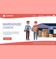 landing page concept with theme warehouse vector image