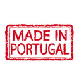 made in portugal stamp text vector image vector image