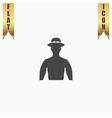 man on hat avatar vector image
