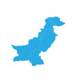map of pakistan high detailed map - pakistan vector image vector image