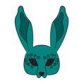 mask hare drawing by hand vector image