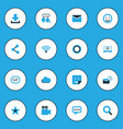 media colorful icons set collection of cloud vector image vector image