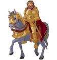 medieval king horseback vector image
