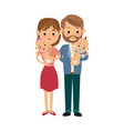 mom and dad holding her baby twins vector image