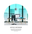 Office Interior Template vector image vector image