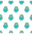 Owlet turquoise seamless pattern vector image vector image