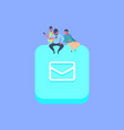 people group on message chat envelope icon vector image vector image