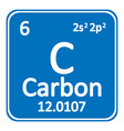 periodic table element carbon icon