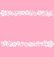 pink background with decorative stripes align top vector image vector image