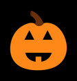 pumpkin funny creepy smiling face happy halloween vector image vector image