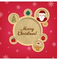 Retro Christmas Web Design Bubbles And Santa Claus vector image