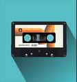 retro vintage cassette tape flat concept vector image vector image