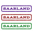 saarland watermark stamp vector image vector image