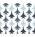 seamless pattern with jet fighters vector image vector image