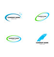 set of cleaning service business logo design vector image