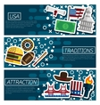 Set of Horizontal Banners about USA vector image
