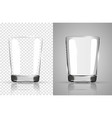 set of transparent glasses goblets transparent vector image