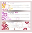 set three colorful banners vector image vector image