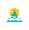 ship logo design vector image vector image