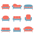 Sofa Icons Duotone vector image vector image