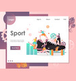 sport website landing page design template vector image