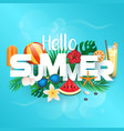 summer background 2018 vector image vector image