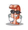 super cool bacon character cartoon style vector image vector image