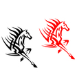 Tribal mustang stallion for mascot vector image vector image