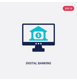 two color digital banking icon from general-1 vector image vector image