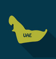 uae map in flat style with shadow vector image