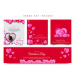 valentines web banner-03-03 vector image vector image