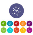 valine icons set color vector image vector image