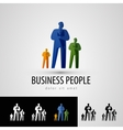 business logo design template people or staff icon vector image