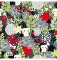 Seamless pattern with nature and skulls vector image