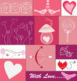 Set of Hearts and Love Icons vector image