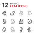 12 keyhole icons vector image vector image