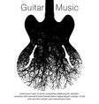 A stunning image of a guitar and tree vector image vector image