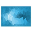 abstract blue tone triangle polygon background vector image
