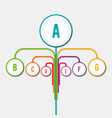 abstract diagram tree infographic vector image vector image