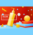abstract scene with shampoo pump bottle vector image vector image
