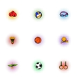 Accessories for training icons set pop-art style vector image vector image