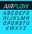 airflow alphabet vector image vector image