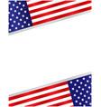 american flag symbols background frame border vector image vector image