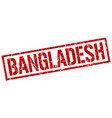 bangladesh red square stamp vector image vector image