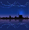 berlin silhouete and chritsmas lights vector image vector image