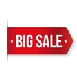 Big Sale Banner red ribbon vector image vector image