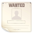 Blank Wanted Poster vector image vector image